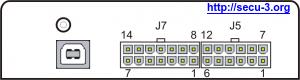 Разъемы блока SECU-3T 14+12