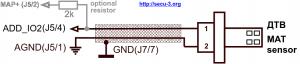 Подключение ДТВ к SECU-3T