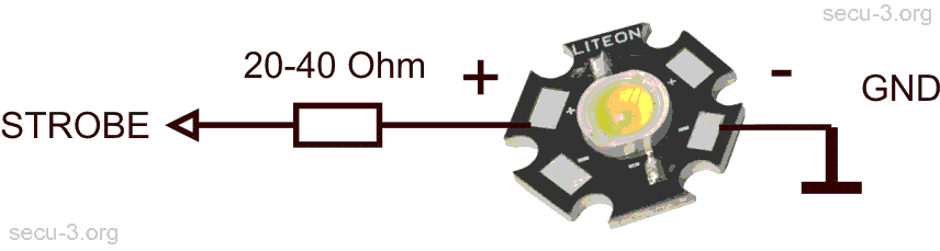 подключение стробоскопа на FE-