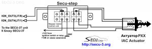 Подключение шагового РХХ к блоку SECU-3T
