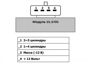 подключение модуля зажигания к SECU