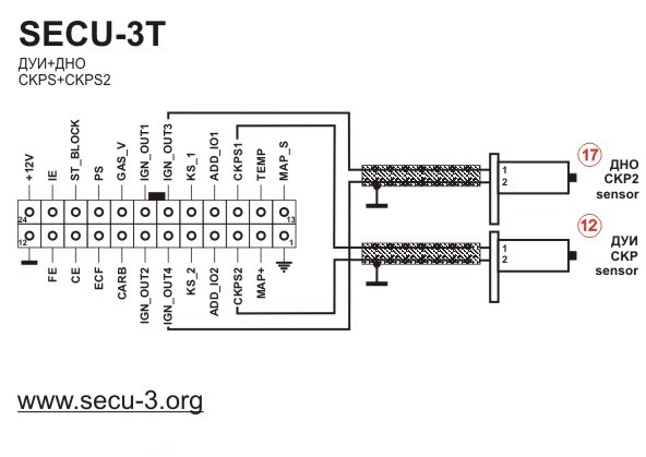 Wiring    diagrams for SECU3T  24 pins connector
