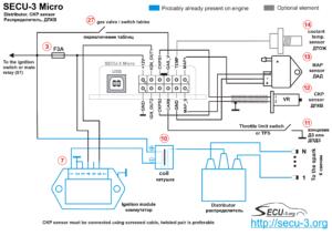 SECU-3 Micro синхронизация от ДПКВ 60-2, высоковольтный распределитель