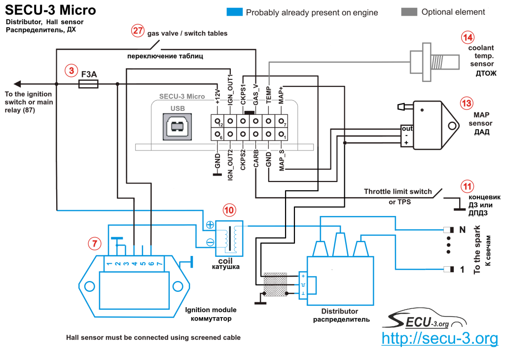 SECU-3 Micro синхронизация от ДХ