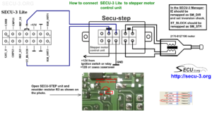 Connecting autochoke control unit to SECU-3 Lite ECU