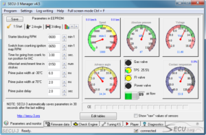 SECU-3 Manager v4.5 Parameters and monitor
