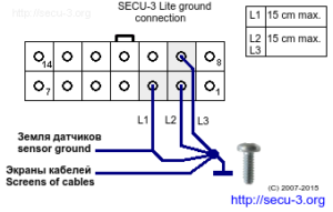 secu-3 lite grounding