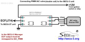Подключение ШИМ РХХ c двумя обмотками к блоку SECU-3T