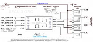 Пример подключения SECU-IGN-DRV4 к МПСЗ SECU-3