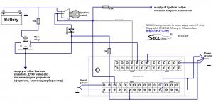 SECU-3i управление питанием с использованием 1 реле