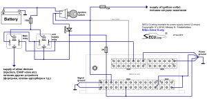 SECU-3i connection of power supply relay (2 relays)