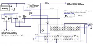 SECU-3i управление питанием с использованием 2 реле