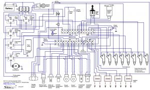 Пример подключения блока SECU-3i на V8, 8 форсунок, 4 катушки зажигания
