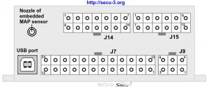 Внешние разъемы и соединения блока SECU-3i