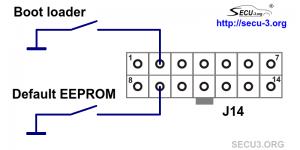 Запуск загрузчика и сброс EEPROM в SECU-3i