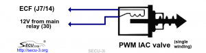 Подключение моментного РДВ с одной обмоткой к SECU-3i