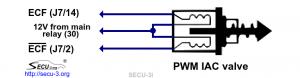 Подключение моментного РДВ с двумя обмотками к SECU-3i