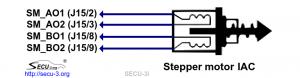 Подключение шагового РДВ к SECU-3i