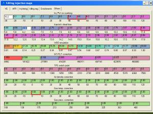 SECU-3 Manager табличный режим редактирования карт впрыска