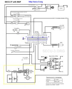 SECU-3T с ДАД - Схема подключения от BQW