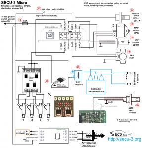 МПСЗ SECU-3 Micro впрыск для 4-х цилиндрового двигателя
