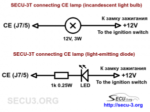 Подключение лампы CE