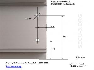 SECU-P&H+PWMIAC Отверстия для крепления транзисторов
