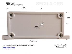 SECU-3 Lite отверстие для светодиода в задней крышке)