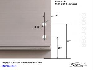 SECU-3 Lite отверстия крепления транзисторов