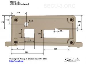 SECU-3 Lite отверстия для разъемов и ДАД в передней крышке
