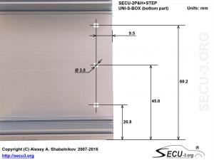 SECU-2P&H+STEP отверстия для транзисторов в нижней крышке