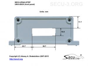 SECU-2P&H+STEP фрезеровка передней крышки