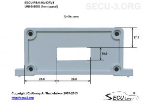 SECU-P&H-INJ-DRV4 фрезеровка передней крышки
