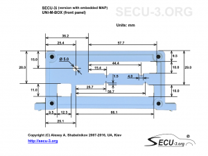 SECU-3i Фрезеровка передней крышки (версия с ДАД)