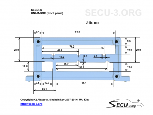 SECU-3i Фрезеровка передней крышки (версия без встроенного ДАД))